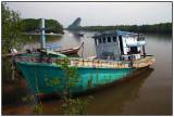 Krabi boat near downtown pier