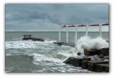 Sochi, storm on the Black sea