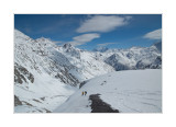 before downhill in the Terskol ravine