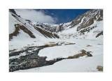 Elbrus, Terskol ravine. View from the bottom