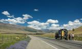 our track, GAZ-66, and the Chuysky trakt road
