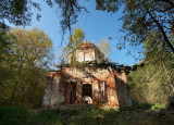 abandoned church in the forest in Meschera lowland
