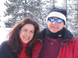 Kate and Hugh's first ski trip