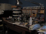 My painting table in usual mess