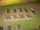 100/17 Howitzers and limbers