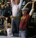 Tim McGraw and family celebrate a Nashville Kats touchdown