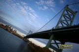 Benjamin Franklin Bridge with downtown Philadelphia