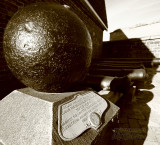 Actual canon ball used in the Battle for Ft. McHenry in 1812