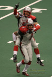 Grand Rapids Rampage WRs Timon Marshall & Jerome Riley celebrate a touchdown