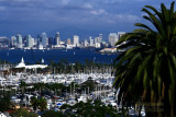 Downtown San Diego, California from Point Loma