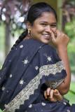 Girl in Peradeniya Botanical Gardens