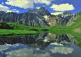 Alpine Lake  and Castle Peak