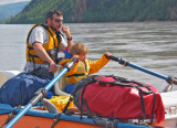 Bill and Hannah on the Yukon River