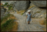 One old woman in Monsanto