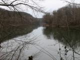 Bleak river scene in winter