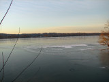 Iced up river