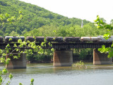 Freight train across Potomac at Harper Ferry