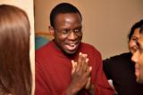 Laughing or praying?