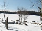 Sunset Lake Ice & Snow - photo by RLW - Jan. 27, 2007