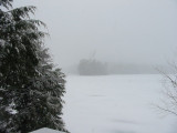 Hills Pond in a Snowstorm -4/15/07