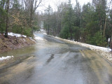 Frohock Brook Rushing over Alton Shores Rd.