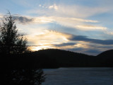 April Sunset on Hills Pond