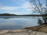 Still Ice on Manning Lake from Boat Ramp - 4/21/07