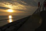 Sun setting on Aberavon beach