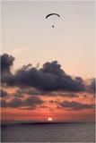 sunset with handglider