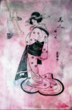 Engraving from the Serie Geisha