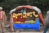 A fruit stand on the streets of Addis
