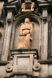 A statute on the exterior of Kiddist Selassie