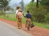 Young children are a common sight in Rwanda.  Most women seemed to be carrying a baby, as pictured here.