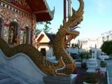 A Dragon Guards a Wat in Chiang Rai
