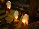 Launching Hot-Air Balloon Lanterns