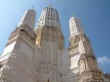 White Spires of a Wat Near Kanchanaburi