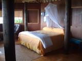 Interior of our fale (cabin) on Mounu Island
