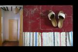 la stanza dal pavimento rosso