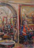 Ritratto di Laura Betti al Caffé Greco, by Stellario Baccellieri