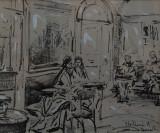 Interno del Caffé Greco by Stellario Baccelieri
