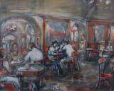 Serata al Caffé Greco. by Stellario Baccellieri