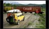 Railroad crossing, BC, Canada