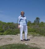 Claudia on the Maine Coastline