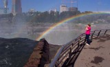 Claudia Photographing the Falls