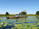 Sabine and Thorsten in Mokoro - Okavango Delta.JPG
