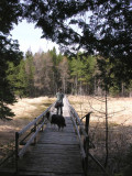 Don and Sabrina on Baird Woods wetland boardwalk