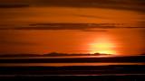 Tonight's Sunset. Over Antelope Island
