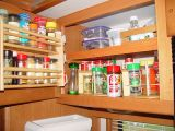 CUSTOM BUILD ROTATING SPICE RACK ABOVE THE KITCHEN COUNTER