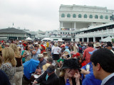 THE PADDOCK AREA FILLED UP FAST AS THE DAY PROGRESSED