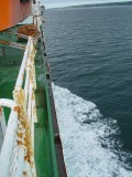 VIEW OF THE SHIP AS WE STEAMED TOWARD NEWFOUNDLAND